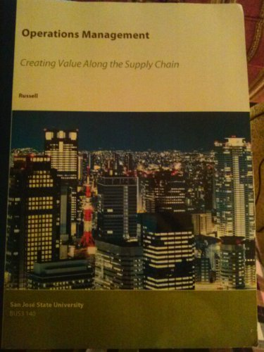 9781119948049: Operations Management: Creating Value Along the Supply Chain (San Jose State University BUS 130)
