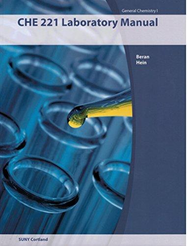 CHE 221 Laboratory Manual