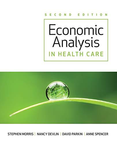 9781119951490: Economic Analysis in Healthcare