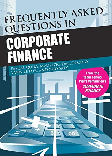 Frequently Asked Questions in Corporate Finance (Paperback): Pascal Quiry