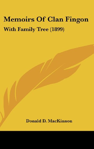 9781120076564: Memoirs Of Clan Fingon: With Family Tree (1899)