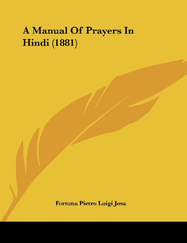 A Manual Of Prayers In Hindi (1881)
