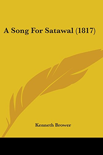 9781120130983: A Song For Satawal (1817)
