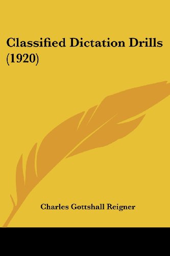 9781120177865: Classified Dictation Drills
