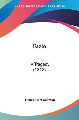 9781120195258: Fazio: A Tragedy (1818)