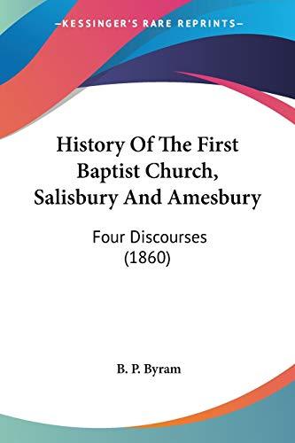 History Of The First Baptist Church, Salisbury