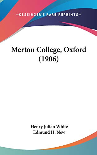 9781120345424: Merton College, Oxford (1906)
