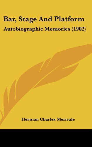 9781120374257: Bar, Stage And Platform: Autobiographic Memories (1902)