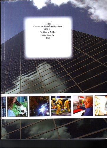 9781121122970: Teoria y Comportamiento Organizacional