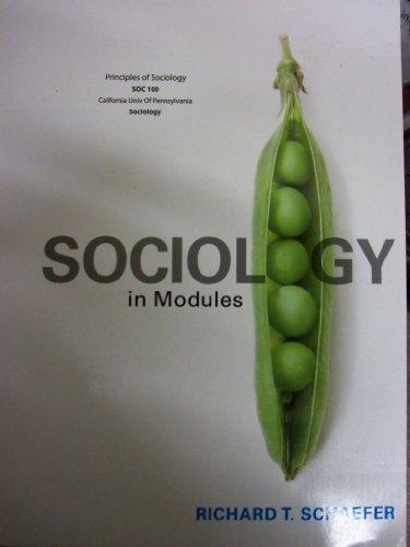 9781121371095: Sociology In Modules (California University Of Pennsylvania | SOC 100)