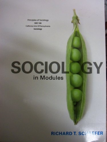 9781121371095: Sociology In Modules (California University Of Pennsylvania | SOC 100)