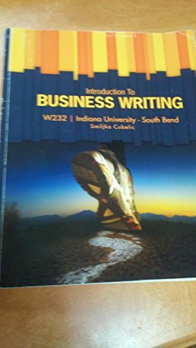 9781121581869: INTRO TO BUSINESS WRITING >C<