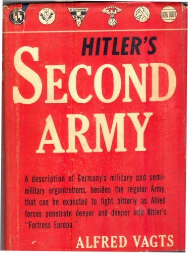 9781121601109: Hitler's Second Army 1st Edition
