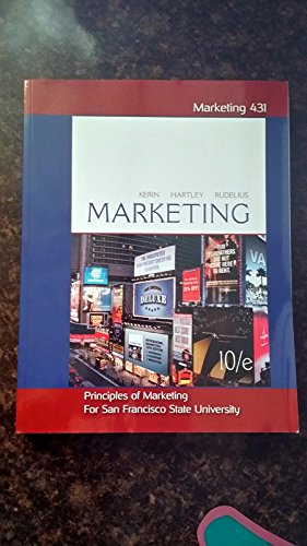 Principles of Marketing for San Francisco State: Kerin, Hartley, Rudelius