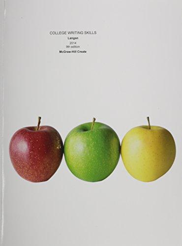 9781121838970: College Writing Skills 2014