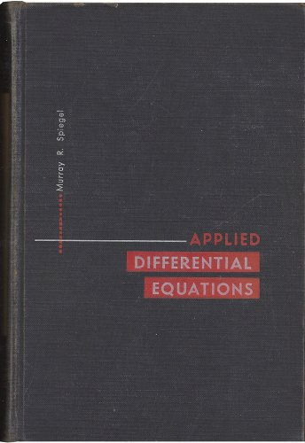 9781124018584: Applied differential equations (Prentice-Hall mathematics series)