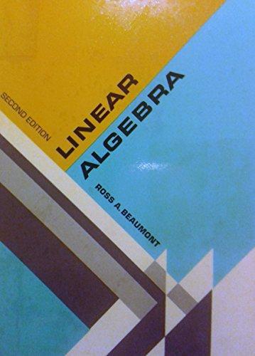 Linear Algebra: beaumont, ross