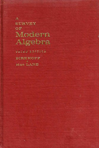 9781124042350: Survey of Modern Algebra 3ed
