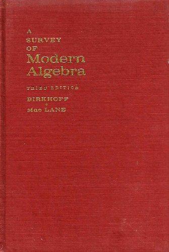 9781124042350: A Survey of Modern Algebra