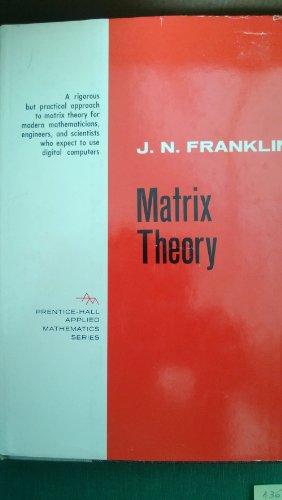 9781124108056: Matrix Theory