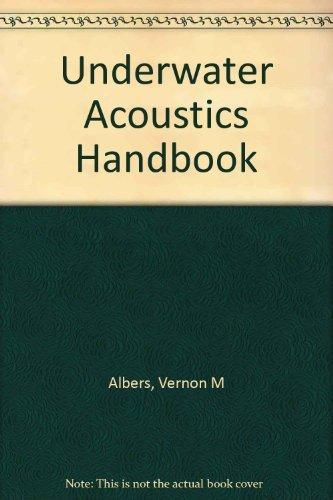 9781124110042: Underwater Acoustics Handbook