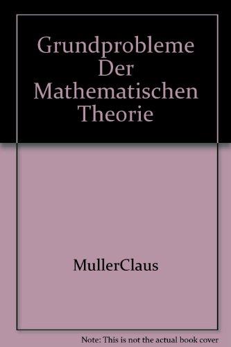 9781124152073: Grundprobleme Der Mathematischen Theorie