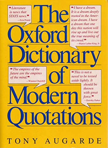 9781125267127: The Oxford Dictionary Of Modern Quotations