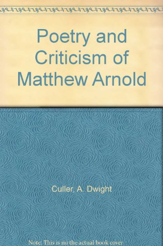 9781125318713: Poetry And Criticism Of Matthew Arnold