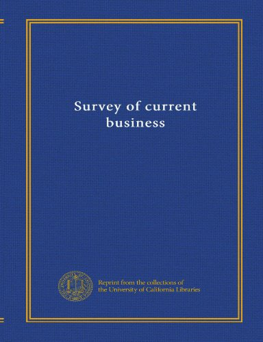 Survey of current business: Wilson, John Rowan