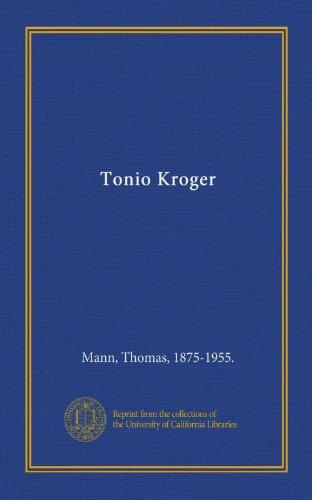 9781125392669: Tonio Kroger (German Edition)