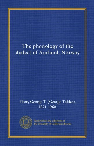 9781125399071: The phonology of the dialect of Aurland, Norway