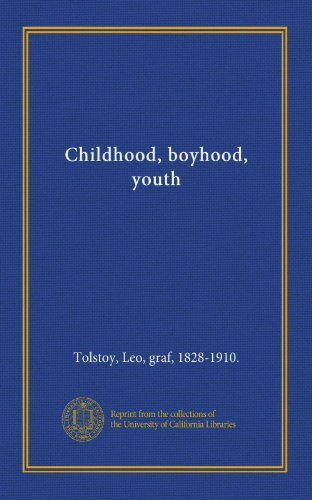 9781125399507: Childhood, boyhood, youth