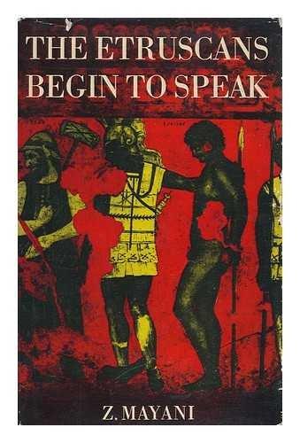 9781125739488: The Etruscans begin to speak