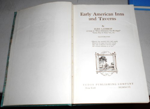 9781126007555: Early American Inns and Taverns