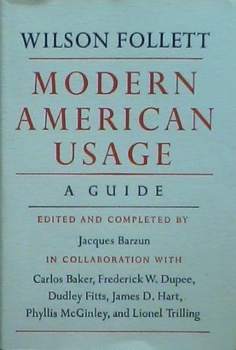 9781127019571: Modern American Usage a Guide