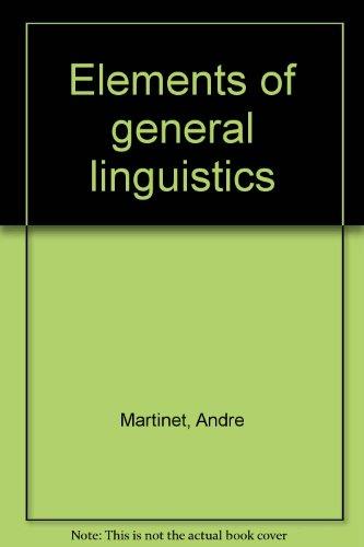 9781127276950: Elements of general linguistics