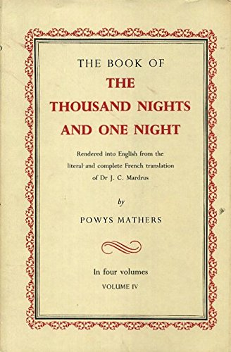 9781127361649: The Book Of the Thousand Nights And One Night Volume IV