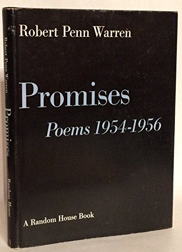 Promises: Poems 1954-1956 (1127368982) by Robert Penn Warren