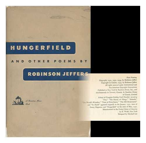 9781127510320: Hungerfield, and other poems
