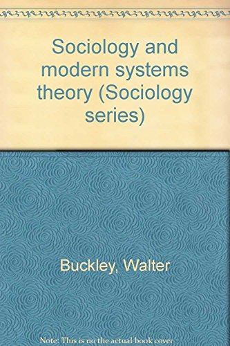 9781127551798: sociology and Modern Systems Theory