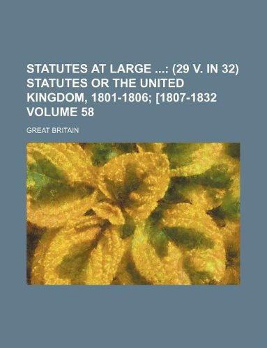 Statutes at Large Volume 58 (1130046354) by Great Britain