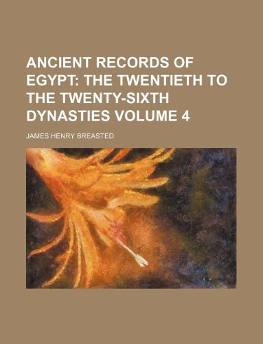 9781130074321: Ancient Records of Egypt Volume 4