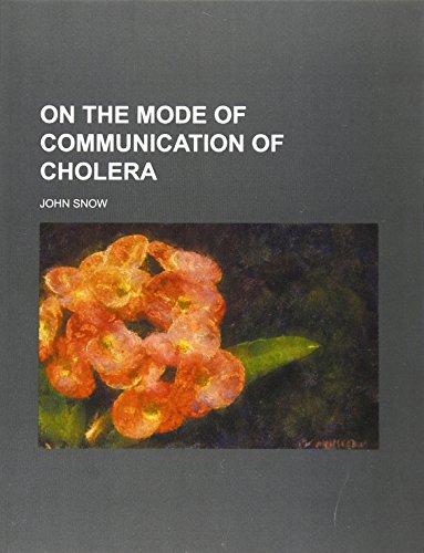 9781130088281: On the mode of communication of cholera