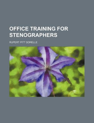 9781130130409: Office training for stenographers