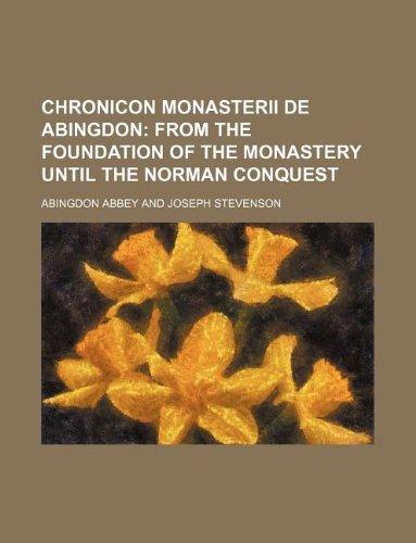 9781130227338: Chronicon monasterii de Abingdon