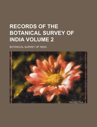 9781130254273: Records of the Botanical Survey of India Volume 2
