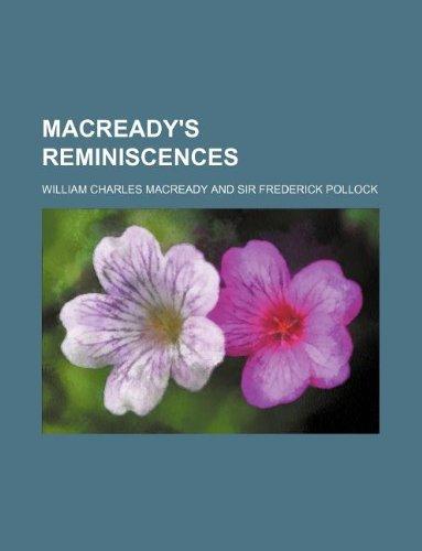 9781130257793: Macready's reminiscences
