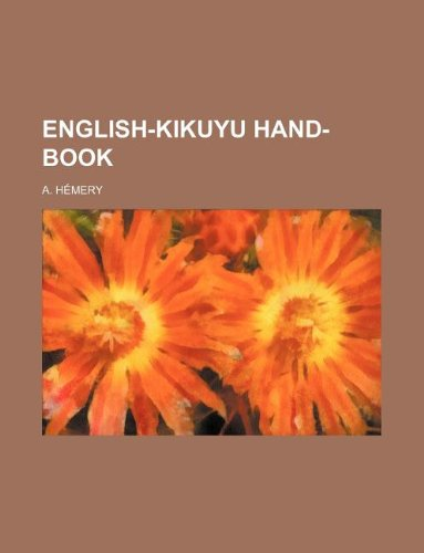 9781130277258: English-Kikuyu Hand-Book