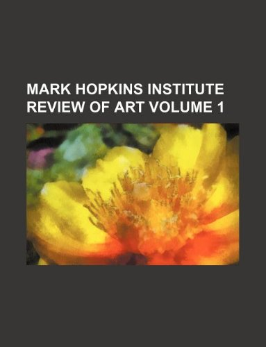 9781130332988: Mark Hopkins Institute Review of Art Volume 1