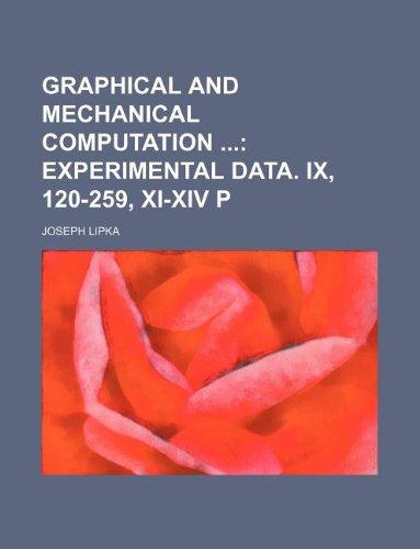 Graphical and Mechanical Computation: Lipka, Joseph